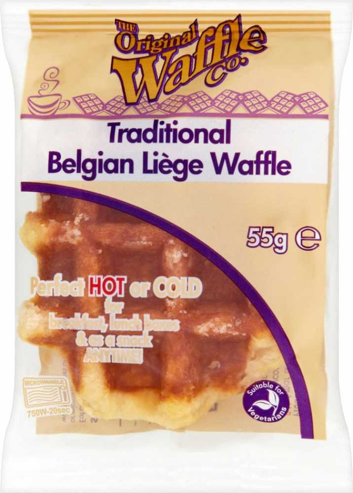 Traditional Belgian Food The Original Waffle Company Traditional Belgian Liege Waffle 55g