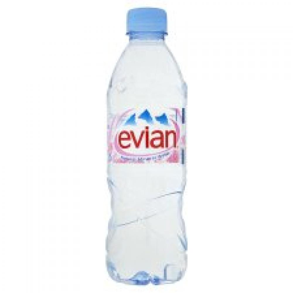 Evian Natural Still Mineral Water 500ml