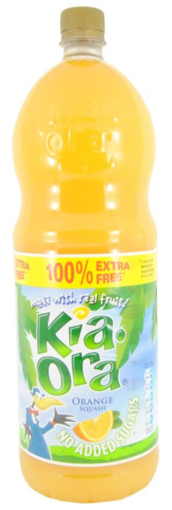Kia Ora Orange Squash No Added Sugar 2 Litre
