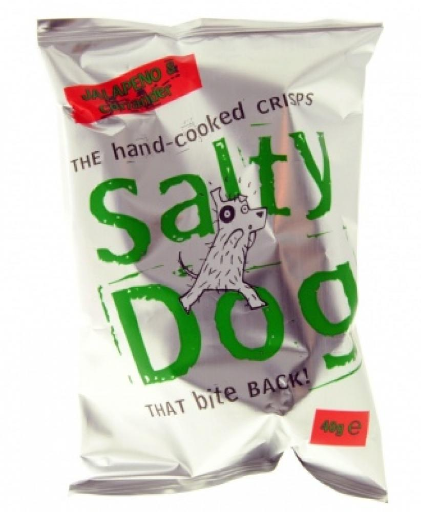 Salty Dog Jalapeno and Coriander Flavour Crisps 40g
