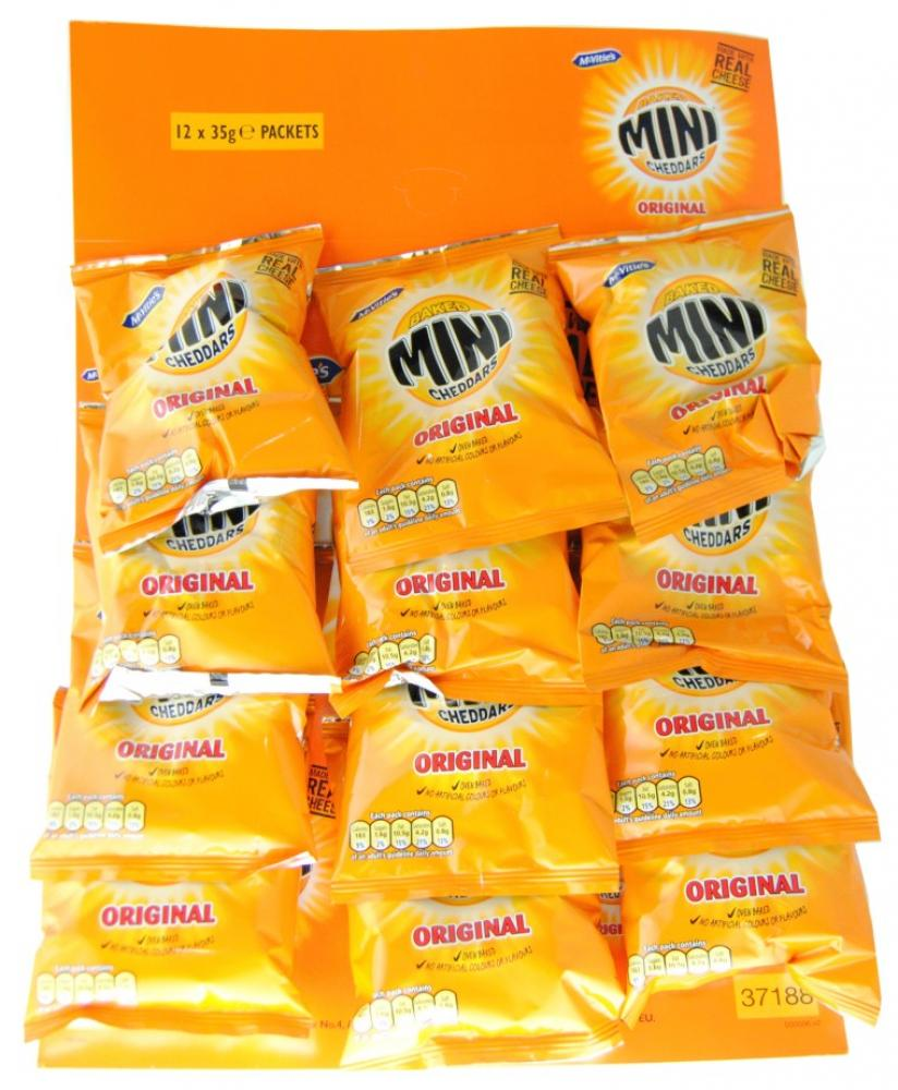 CASE PRICE  McVities Mini Cheddars Original 12 x 35g