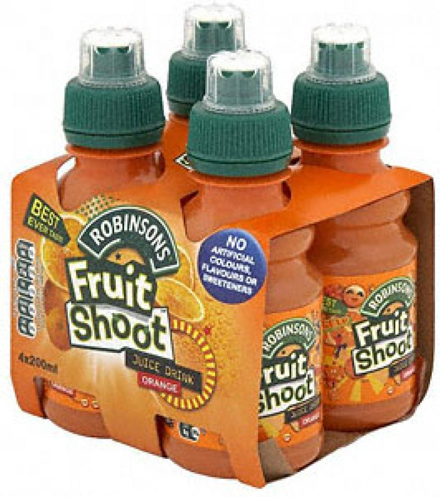 Robinsons Fruit Shoot Orange Juice Drink 4 x 200ml