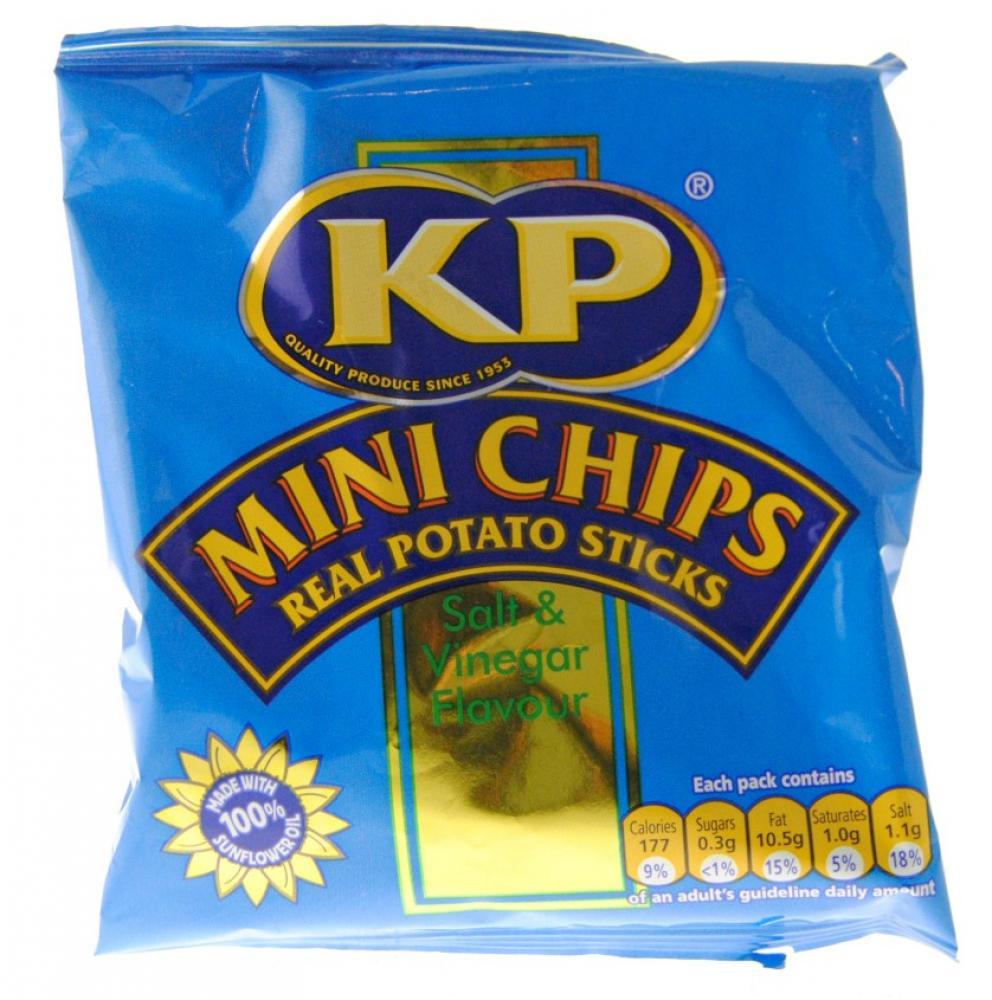 Kp Mini Chips Salt and Vinegar Flavour Potato Sticks 33g